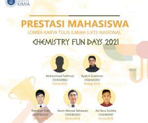 """Prestasi Mahasiswa dalam Lomba Karya Tulis Ilmiah (LKTI) Nasional """"Chemistry Fun Days 2021"""""""