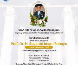Berita Duka Cita: Prof. Dr. H. Susanto Imam Rahayu