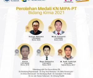 Prestasi Mahasiswa pada KN MIPA-PT Bidang Kimia 2021