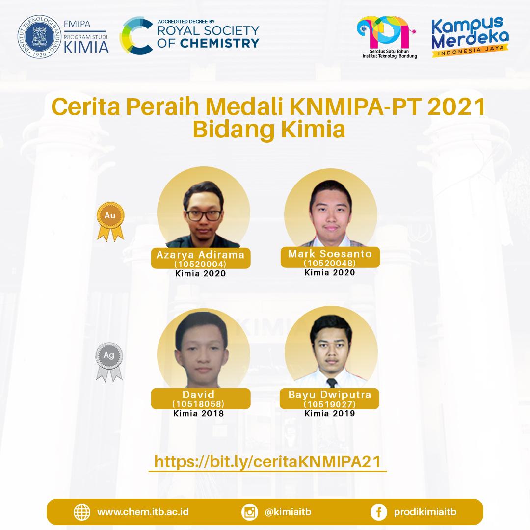 Cerita Peraih Medali KNMIPA-PT 2021