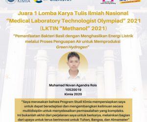 """Prestasi Mahasiswa pada LKTI Nasional """"Methanol"""" 2021"""